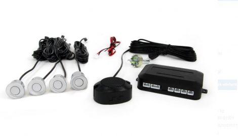 Amio Basic tolatóradar 4 szenzoros hangjelzéssel ezüst szenzorokkal