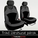 Trikó üléshuzatok és elülső és hátsó üléshuzat párok